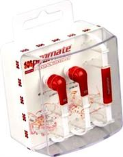 Promate Aurus Universal Hands-free Stereo Earphone Set with Microphonecall button function for all Audio devices,Super wide frequency response,Frequency range: 20-20kHz,Ouput power: 20mW,Cable length: 1.25m,Colour-Red, Retail Box, 1 Year Warranty