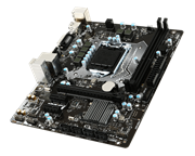 Msi H110M PRO-VH PLUS LGA 1151 Micro ATX Motherboard – Support the Intel 6th generation Core i7, Core i5, Core i3 processors in the 1151 package, Intel H110 Chipset, 2-DIMM DDR4-2133 up to 32G maximum capacity, 4 x SATA 3Gb/s Connectors, 1 x D-Sub, 1 x HDMI, Realtek ALC887 Codec 7.1-Channel High Definition Audio, 1 x PCIe 3.0 x16 slot, 2 x PCIe 2.0 x1 slots, 1 x Realtek RTL8111H Gigabit LAN controller, 4 x USB 3.1 Gen1 (SuperSpeed USB) ports (2 ports on the back panel, 2 ports available through the internal USB connector), 6 x USB 2.0 (High-speed USB) ports (2 ports on the back panel, 4 ports available through the internal USB connectors), 1 x CPU FAN Header, 1 x System FAN Header, m-ATX Form Factor, Retail Box, 2 year warranty