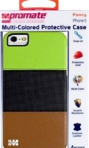 Promate Pancy iPhone 5 Multi-Colored Protective Case Colour: Green/Black/Brown, Retail Box , 1 Year Warranty