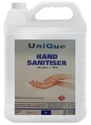 Casey UniQue 5 Litre Hand and Surface Alcohol Based Sanitiser in -70% Ethanol Alcohol Hydrogen Peroxide , Glycerine , Soft And Gentle Against Sensitive Skin, Clear Liquid Retail Box No Warranty
