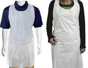 Casey Disposable Polyethylene Sleeveless PullOn Aprons -Water-Repellent And Smudge-Proof,10 Micron Low Density Polyethylene (LDPE), Flat Pack , standard width 69cmColour White Pack of 100 Retail Box No Warranty