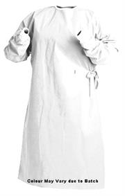 Casey Disposable SMS Fabric Reinforced Surgical Gown-Non Sterile, Lightweight, Durable, Breathable, SMS Polypropylene Reinforced Fabric Widely Used at Clinics, Hospitals, Examination Rooms, Operating Theatres, Effective Protection From Blood Borne Pathogens and Liquid Spills, Colour White Size Large Sold as a Single Unit Retail Box No Warranty