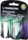 Manhattan Rechargeable Battery – D, 8000 mAh, 2 Pack, NiMH , Retail Box , No warranty