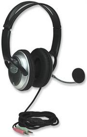 Manhattan Classic Stereo Headset + Microphone with in-line volume control, Retail Box, Limited Lifetime Warranty