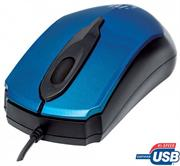 Manhattan Edge Optical USB Mouse – USB, Wired, Three Buttons with Scroll Wheel, 1000 dpi, Blue , Retail Box, Limited Lifetime Warranty