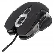 Manhattan Wired Optical Gaming Mouse – USB, Six Button with Scroll Wheel, Adjustable DPI, LED Lighting, Black, Retail Box, Limited Lifetime Warranty