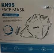 Casey KN95 Disposable Respirator Face Masks- 10 Masks Per Pack, Contour Fit Design for Easy Breathing and Speaking, with Ear loop, Adjustable Nose Piece ,Confortable Nose Foam Retail Box No Warranty