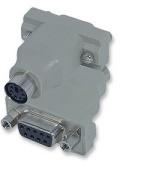 Manhattan Mouse Adapters-Mini-DIN 6 Female to DB 9 Female , Retail Box, No Warranty