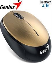 Genius NX-9000BT Bluetooth 4.0 3-button wireless optical mouse – 1200 dpi BlueEye sensor, Built-in 320mAh lithium poylmer battery, 10m Range – Gold, Retail Box , 1 year Limited warranty