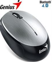 Genius NX-9000BT Bluetooth 4.0 3-button wireless optical mouse – 1200 dpi BlueEye sensor, Built-in 320mAh lithium poylmer battery, 10m Range – Silver, Retail Box , 1 year Limited warranty