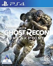 PlayStation 4 Game Tom Clancy Ghost Recon Breakpoint, Retail Box, No Warranty on Software