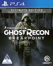 PlayStation 4 Game Tom Clancy Ghost Recon Breakpoint Ultimate Edition, Retail Box, No Warranty on Software