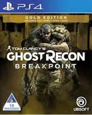PlayStation 4 Game – Tom Clancy Ghost Recon Breakpoint Gold Edition Retail Box, No Warranty on Software