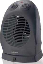 Mellerware 35220GT Floor Oscillation Fan Heater 2000w Colour Graphite-Graphite, 2 heat settings 1000w / 2000w, Cool, warm or hot setting, Left / right oscillating function, Adjustable thermostat, Thermal cut-out for overheat protection, Integrated carry handle, Retail Box, 1 year warranty