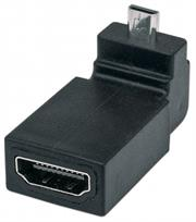Manhattan HDMI Adapter – HDMI A Female to Micro Male, 90° Up Angle , Retail Box, Limited Lifetime Warranty