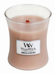 Woodwick Vanilla & Sea Salt Medium Jar Retail Box No warranty