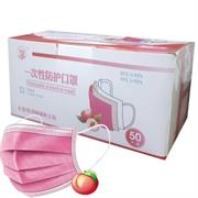 Casey 3 Ply Disposable Face Mask with Earloop 50 Per Pack Peach Scented Retail Box No Warranty