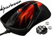 Sharkoon FireGlider Gaming Laser Mouse inc Weights 118 to 135g, DPI 600 to 3600, USB Interface , 6 Buttons + Macros, Retail Box , 1 Year warranty