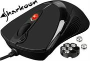Sharkoon FireGlider r Gaming Laser Mouse-Black inc Weights 118 to 135g, DPI 600 to 3600, USB Interface , 6 Buttons + Macros, Retail Box , 1 Year warranty