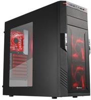 "Sharkoon T28 Gaming ATX Midi Tower Case -2x 5.25″ drive bays (external),6x 3.5″ HDD bays (internal),2x 2.5″/3.5 ""HDD bays (internal)2x USB3.0 , 2x USB2.0, 2x audio Connectors,Mesh front panel,Dimensions: 475x200x440 mm-Black with Red LEDs, Retail Box , 1 Year warranty"