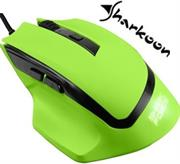 Sharkoon SHARK Force Gaming Optical Mouse: Green, Professional 6-button gaming mouse, Three DPI levels (600-1000-1600 DPI), Ergonomic design, Rubberized surface for maximum grip, USB connector, Retail Box , 1 Year warranty