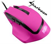 Sharkoon SHARK Force Gaming Optical Mouse: Pink , Professional 6-button gaming mouse, Three DPI levels (600-1000-1600 DPI), Ergonomic design, Rubberized surface for maximum grip, USB connector, Retail Box , 1 Year warranty