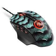 Sharkoon Drakonia II Gaming Laser Mouse with adjustable weights – 15000 DPI Optical sensor, 12 programmable buttons + 4-way scroll wheel, USB Interface – Green, Retail Box , 1 Year warranty