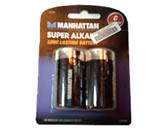 Manhattan Super Alkaline Battery – C, 2 Pack , Retail Box , No warranty