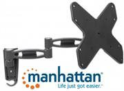 """Manhattan Universal Flat-Panel TV Articulating Wall Mount – Double arm supports one 23"""" to 42"""" television, Retail Box , 1 year Limited Warranty"""