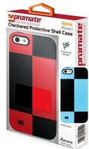 Promate Notik iPhone 5 Checkered Protective Shell Cover Colour: Blue /Black Fashionably aimed, this UniQue checkered design protection case for iPhone 5 / 5s is in a class of its own. Complete with total protection, this cover provides a fresh look for your everyday iPhone 5 / 5s life. Perfect for the user who's lifestyle varies day and night. Total protection without compromising design and style, Notik simply is the case for you., Retail Box , 1 Year Warranty