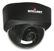 Intellinet NFD30 Network Dome Camera MPEG4 + Motion-JPEG Dual Mode PoE Audio – Excellent image quality with 30 fps full-motion video in all resolutions Progressive-scan image sensor with OmniPixel2 technology Supports image resolutions up to 640 x 480 (VGA) Audio support, full duplex, up to 8 kHz, with integrated microphone 3.7 – 12 mm, F1.4 vari-focal lens Video access through any standard Web browser Integrated motion detection with pre- and post-alarm image/video buffering Event-triggered FTP and e-mail upload of still images and videos Terminal block for external sensors or external alarm devices Supports simultaneous MPEG4 and Motion-JPEG image compression Supports MPEG4 video streaming with CBR (constant bit rate) and VBR (variable bit rate) modes Supports low light conditions, minimum 0.5 lux Mobile phone streaming live video through 3GPP / ISMA / RTSP Mobile phone live image through 2.5 WAP MPEG4 + Motion-JPEG + 3GPP mobile phone streaming, audio and 10x digital zoom, Retai