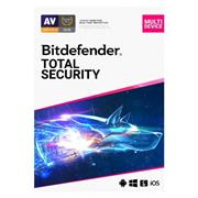 Bitdefender Total Security 3 Device + MyCyberCare, Retail Packaging, No Warranty on Software