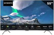 Skyworth 55 Inch LED Backlit Ultra High Definition 4K Infinity Screen Android Smart Television-Built In Google Chromecast, Resolution 3840 × 2160, Aspect Ratio 16:9, Response time 8ms, Brightness 250cd/m2 , Digital Media Renderer (DMR) 60Hz, Android 10 TV Operating System, Voice Search, 2GB RAM Internal Memory, 8GB Internal Storage Memory, 178 Degree Viewing Angle, Preloaded Apps :YouTube , Netflix, Google Play Store, Google Assistant, Open Web Browser, Digital DVB-T2 TV Tuner, Built-in Wi-Fi 802.11b/g/n, RJ45 Ethernet Lan port, Bluetooth Ver 5.0, HDMI inputs, 2x USB ports, Dolby Audio Stereo 10w RMS Speakers, Retail Box, 1 Year Limited Warranty