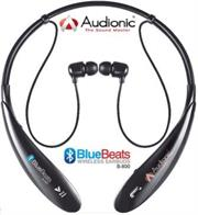 Audionic B800 Bluebeats Stereo Bluetooth Earphones with Neckband, Retail Box , 1 year Limited Warranty