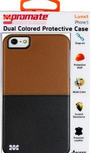 Promate Lunet iPhone 5 Durable case with a cut-out design Colour: Brown / Black, Retail Box , 1 Year Warranty