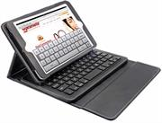 Promate Keycasemini3 -Protective Leather Case with Magnet-Detachable Bluetooth™ Keyboard for iPad mini-Black, Retail Box, 1 Year Warranty