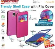Promate Fenes S5 Bookcover with window Colour:Pink, Retail Box , 1 Year Warranty