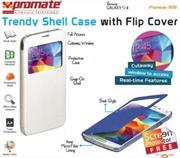 Promate Fenes S5 Bookcover with window Colour:White, Retail Box , 1 Year Warranty