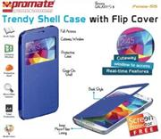 Promate Fenes S5 Bookcover with window Colour:Blue, Retail Box , 1 Year Warranty