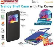 Promate Fenes S5 Bookcover with window Colour:Black, Retail Box , 1 Year Warranty