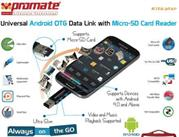 Promate Kitkater Universal Android OTG Data link with Micro-SD Card Reader, Retail Box, 1 Year Warranty
