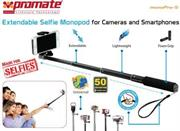 Promate Monopro-5 Extendable Selfie Monopod for Cameras and Smartphones Colour:Grey, Retail Box , 1 Year Warranty