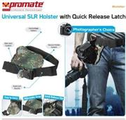 Promate Bolster Universal SLR Holster with Quick Release Latch – Camouflage, Retail Box, 1 Year Warranty