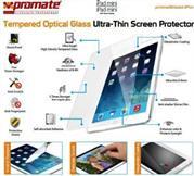 Promate primeShield.iPm-Ultra-Thin Tempered Optical Glass Screen Protector for iPad mini, Retail Box, 1 Year Warranty