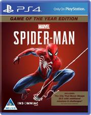 PlayStation 4 Game Spider-Man Game of the Year Edition, Retail Box, No Warranty on Software