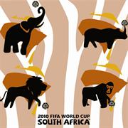 Esquire Official FIFA 2010 Licensed Product-AFRICA ANIMAL1 Mouse Pad-Purchase as a mémoire of the 2010 Soccer World Cup in South Africa! , Retail Box , No warranty