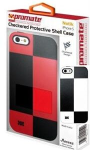 Promate Notik iPhone 5 Checkered Protective Shell Cover Colour: White /Black Fashionably aimed, this UniQue checkered design protection case for iPhone 5 / 5s is in a class of its own. Complete with total protection, this cover provides a fresh look for your everyday iPhone 5 / 5s life. Perfect for the user who's lifestyle varies day and night. Total protection without compromising design and style, Notik simply is the case for you., Retail Box , 1 Year Warranty