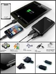 Promate energyMate-Rechargeable external battery wth interchangeable plug tips for tablets and mobile devices , Retail Box , 1 Year Warranty