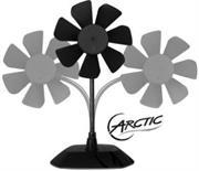 Arctic Breeze USB 92MM Desktop Fan with Flexible Neck and Adjustable Fan Speed Black, Retail Box , 1 Year warranty