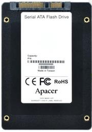 Apacer 128GB NAS SSD Drive; Interface-SATA III, NAND flash 3D TLC; Continuous Read Speed (MB/s) 550, Continuous Write Speed (MB/s) 450, 4K Random R/W Speed (IOPS) 65,000; Random Write IOPS (4K) 81,000, Retail Box, 5 year warranty
